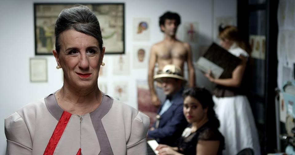 Vestido de Laerte na Sala Walter da Silveira.