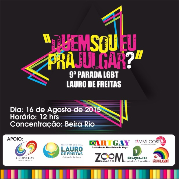 PARADA GAY LAURO DE FREITAS CARTAZ 2015