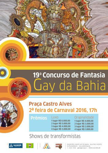 CARTAZ PROMCIONAL FANTASIA GAY DA BAHIA 2016